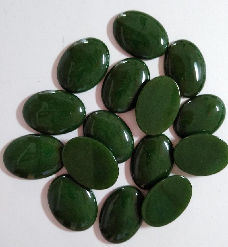 Deep Green Mountain Jade 30x22mm Oval Cabochons