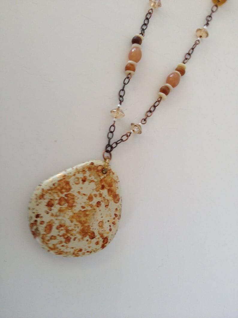 Golden Copper Pendant Necklace Set