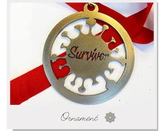 "COVID-19 Survivor Medal - 4.5"" Steel - 3.5"""