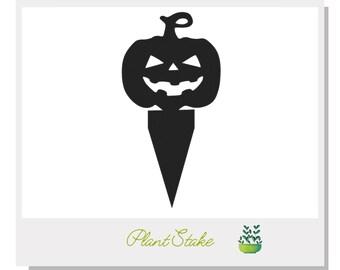Halloween Pumpkin Plant Stake - Metal art for plants - Metal decor for plants -  Gift for plant lover - Halloween Decor- Cake Topper
