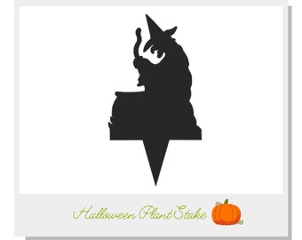 Halloween Witch Plant Stake - Metal art for plants - Metal decor for plants -  Gift for plant lover - Halloween Decor - Cake Topper