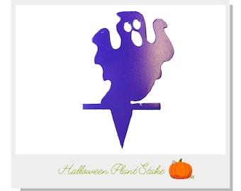 Halloween ghost Plant Stake - Metal art for plants - Metal decor for plants -  Gift for plant lover - Halloween Decor