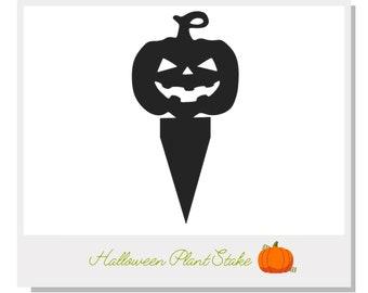 Halloween Pumpkin Plant Stake - Metal art for plants - Metal decor for plants -  Gift for plant lover - Halloween Decor - Cake Topper
