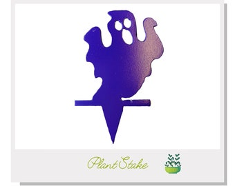 Halloween ghost Plant Stake - Metal art for plants - Metal decor for plants -  Gift for plant lover - Halloween Decor- Cake Topper
