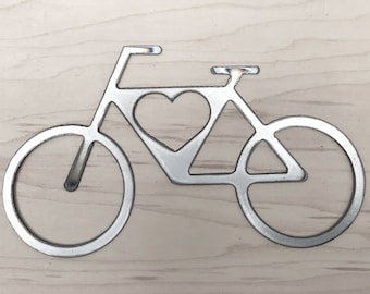 Bicycle Bike Tags Ornaments Laser Cut #2048 Wooden Cutout Shape Silhouette