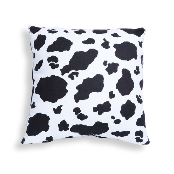 32cb4d2c6df Cow Print Reversible Pillow Cover in Black and White