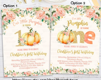 pumpkin invitation etsy