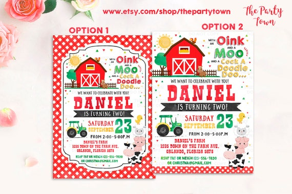 farm birthday invitation farm invitation barnyard invite old