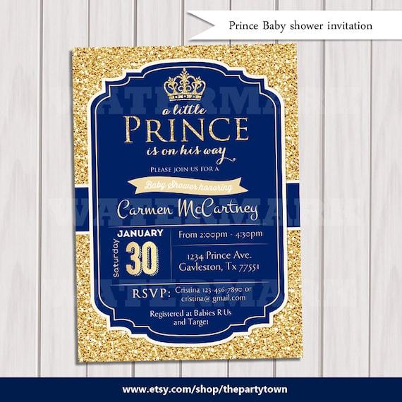 Prince baby shower invitation royal blue gold baby shower etsy image 0 filmwisefo