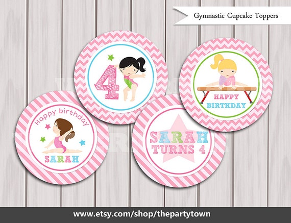 Gymnastic Cupcake Toppers Cake