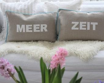 Linen Pillow/cushion  Smile, Surf.... Message