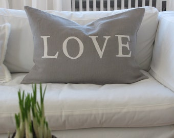 """Pillow cover """"LOVE, home, Sweet home...."""""""
