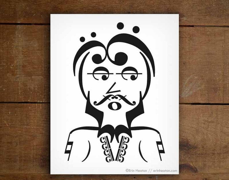 afa8e2dd055 Music wall art   HIPPIE GUY music art print 5x7 8x10 11x14