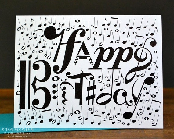 Musical Notation HAPPY BIRTHDAY Card Music Note
