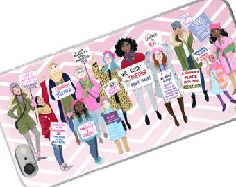 Women's March commemorative Phone case, Women's Rights Phone cover, Women's Movement, Feminist Phone cover, March on Washington, Girl Power