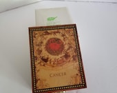 Cancer Wooden Trinket Box Lacquered Jewelry Box Zodiac Symbol Albert E. Price 4 quot X 3 quot Vintage New Old Stock NOS