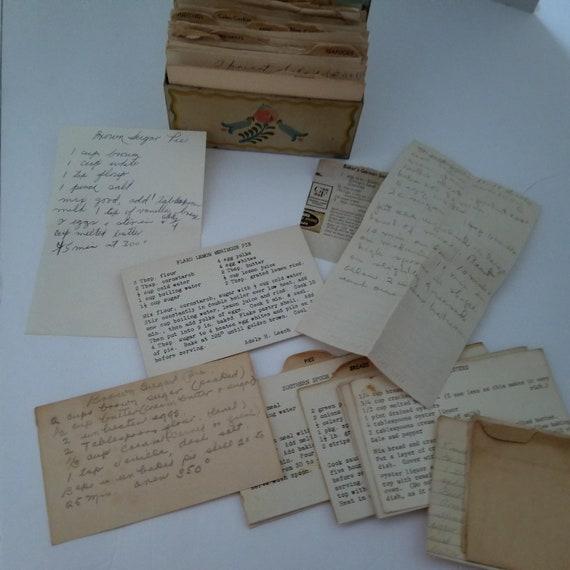 Ohio Art Metal Recipe Box FULL Of Vintage Recipes Hand Written Newspaper  Envelope Backs Southern Cook Recipes Kitchen Decor