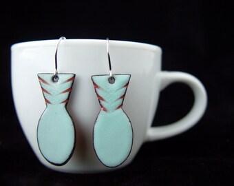 Silver Post Earrings jewelry modern minimalist wire simple arcs lines dots custom handmade to order shiny polished earrings by IvyKJewelry