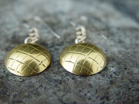 Ear Cuffs Silver Brass minimalist geometric triangle jewelry custom handmade earrings by IvyKJewelry