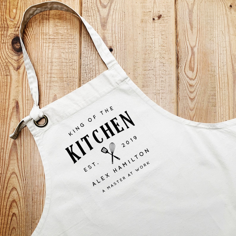 Aprons for Men  King of the Kitchen  Personalised Apron  image 0