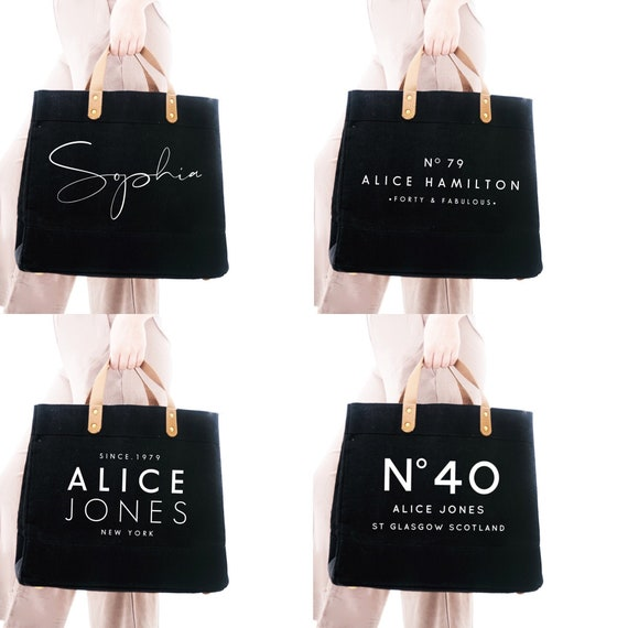 40th Birthday Gift Tote Bag Shopper Shopping Custom add Name of choice 1979
