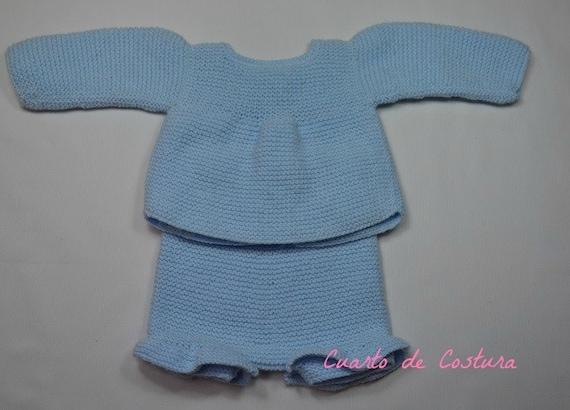 Patrón para conjunto de jersey y pantalón para bebe de 1 a 3  65a679169dd4