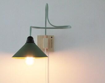Applique da parete in rame legno e carta a posizione etsy