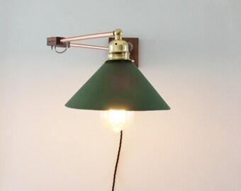 Lampada da parete applique realizzato a mano in rame legno e etsy