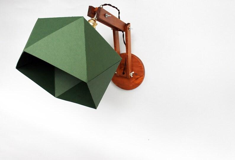 Applique da parete in legno e carta con struttura regolabile. etsy