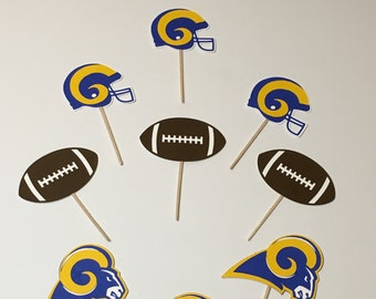 LA Rams Cupcake Toppers Food Picks Throwback