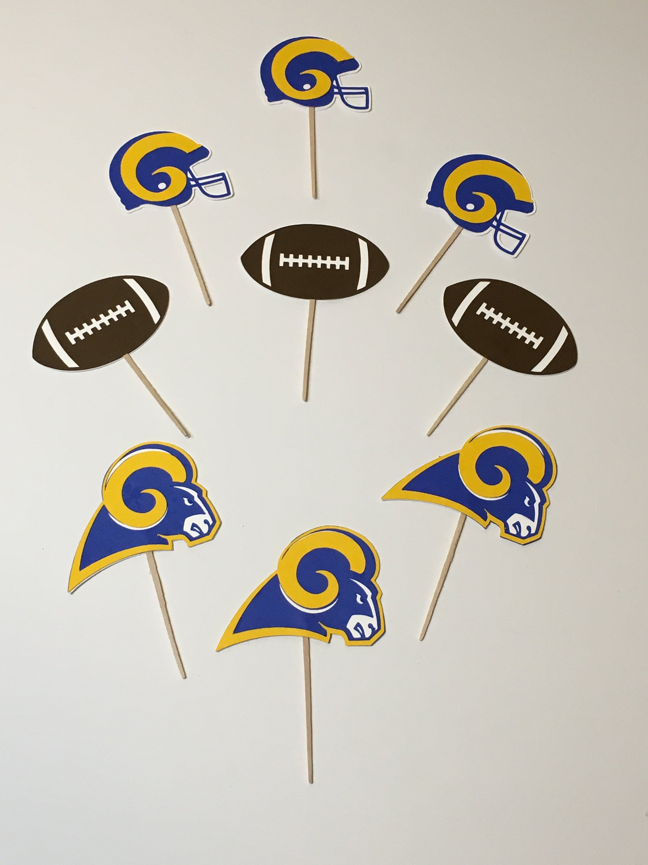 e89c3c7c LA Rams Cupcake Toppers, Food Picks, Throwback - Royal Blue & Yellow, Super  Bowl LIII 53 Party, Los Angeles Rams, Birthday, Tailgate Party