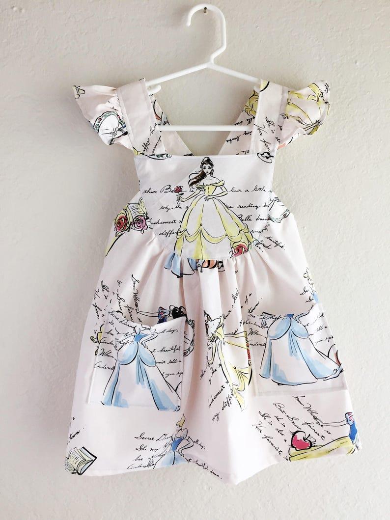 Disney classic Princesses toddler dress/ girls disney dress/ image 0