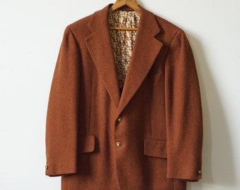 Vintage Brown Wool Christian Dior Monsieur Suit Jacket