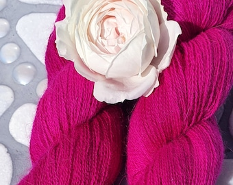Angora PURE LACE. Homegrown Bunny Yarn from Our Own Rabbitry. Seidenhase. Lace Yarn. Hand Dyed.