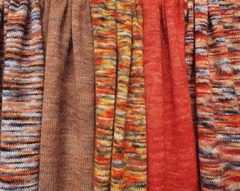 Shades of Cinnamon. Knitted Angora Wrap Cowl Loop