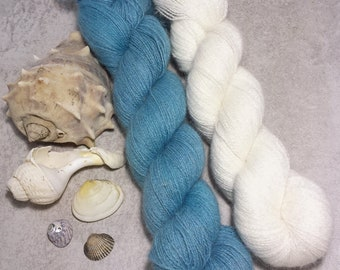 2x Angora PURE LACE. Homegrown Bunny Yarn from Our Own Rabbitry. Seidenhase. Lace Yarn.