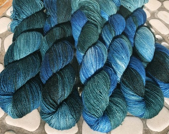 50g Angora PURE LACE. Homegrown Bunny Yarn from Our Own Rabbitry. Seidenhase. Lace Yarn. Hand Dyed.