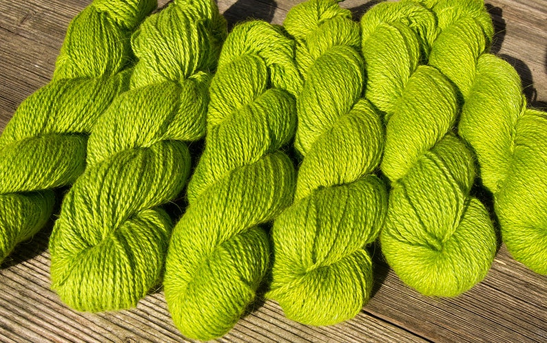 Angora MIX Lily Of The Valley Superwarm Wool for Knitting And Crocheting Hand Dyed Yarn Gift For Her.