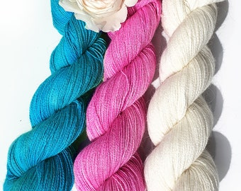 3x Angora PURE LACE. Homegrown Bunny Yarn from Our Own Rabbitry. Seidenhase. Lace Yarn.