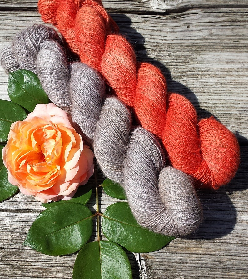 Homegrown Bunny Yarn from Our Own Rabbitry 2x 50g Angora PURE LACE Lace Yarn. Seidenhase