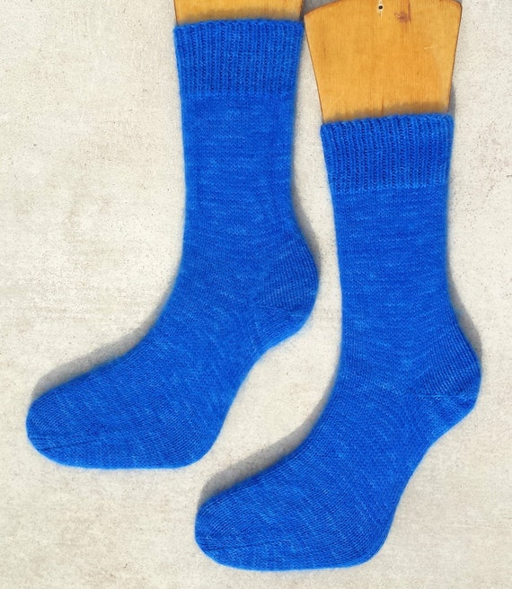36-38 Small Cosy Superwarm HandCrafted Angora Wool Bed Socks Hand Knitted Unisex
