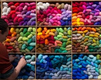 Custom Colour. 50g Angora PURE. Favourite Colour. Angora PURE. Homegrown Angora Yarn. Seidenhase