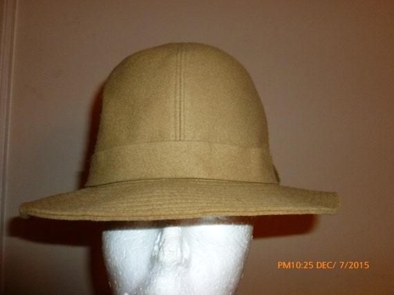 1960s Givenchy Felt Hat Fedora Wide Brim Park Serv