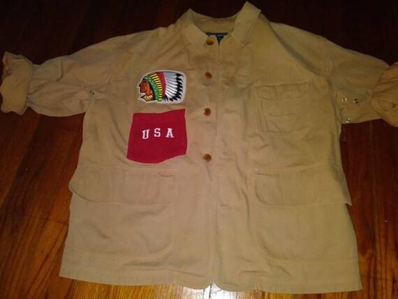Vtg Ralph Lauren Polo Sport Cargo Jacket Customize