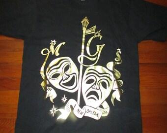 VTG Bourbon Street New Orleans Louisiana Mardi Gras T Shirt Size L