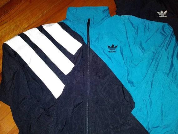 """Vtg Adidas Windbreaker Suit Size L 44"""" Pants"""