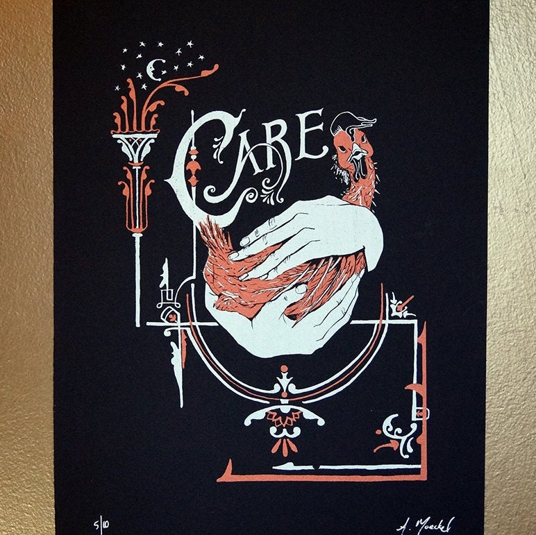 "Silkscreen Print, 1st Edition ""Care"""