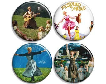 The sound of music - pinback buttons or magnets  1.5""