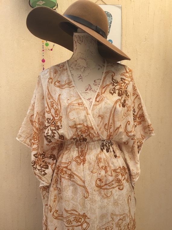 Boho vintage-vintage dress-vintage maxi dress-long