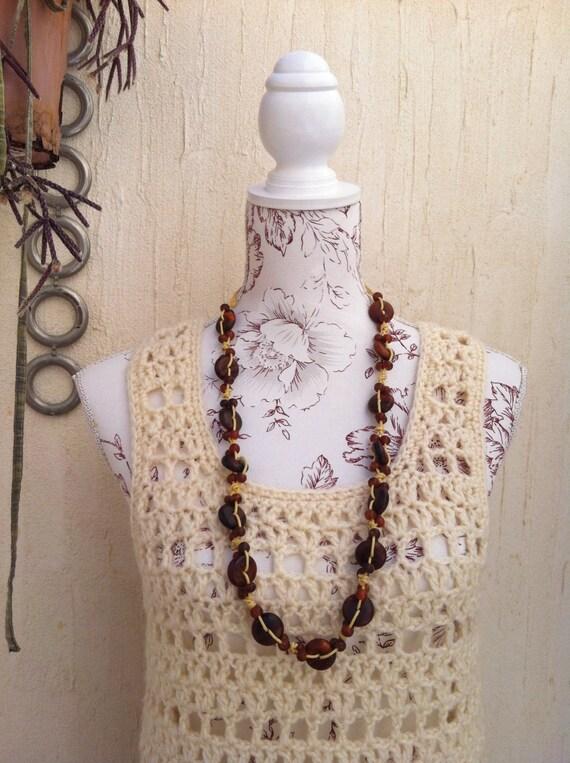 Vintage 70s crochet boho sweater vest  - vintage … - image 1